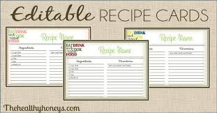 Free Editable Recipe Card Templates Magdalene Project Org