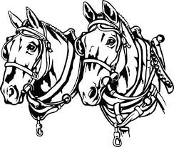 draft horse head silhouette. Exellent Draft Draft Horses Illustration For Horse Head Silhouette