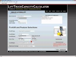 Forklift Load Chart Formula Using Forklift Capacity Calculator Lifttruckcapacitycalculator Com
