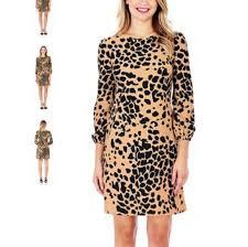 Chloe Dress Size Chart Jude Connally Chloe Dress In Classic Leopard Camel