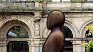iron man office. Iron: Man Head In Victoria Square, Birmingham, A Statue By Antony Gormley On The Former Central Post Office Background. Stock Footage Video 8086621   Iron