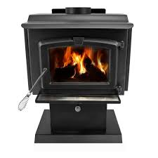 pleasant hearth 1 200 sq ft epa certified wood burning stove with small blower