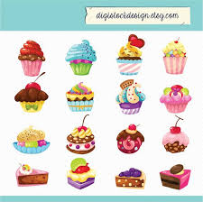 cute cupcake clipart. Unique Clipart Stylish Sweet Cake Clipart Food Illustration 16 Colorful Cute Cupcakes  Clipart 005 On Cupcake A