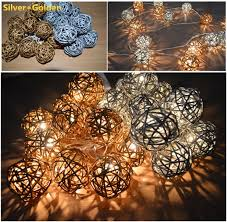 Decorative Cane Balls Unique Decorative Cane Balls Delectable Silver And Golden Handmade Rattan