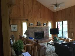 paint knotty pine in a 1990 lake house