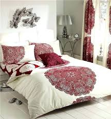 super king size duvet covers cream red patterned design bedding king size duvet cover bed