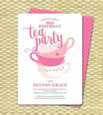 Tea Party Invitations Free Template Birthday Tea Party Invitations Image 0 Free Invitation