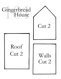 Gingerbread House Patterns Cool Gingerbread House Pattern Selolinkco