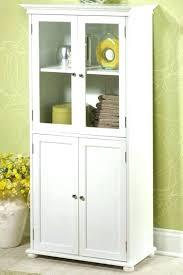 floor cabinet with doors glass