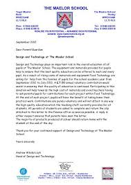 Contribution Letter Food Technology Contribution Letter The Maelor School
