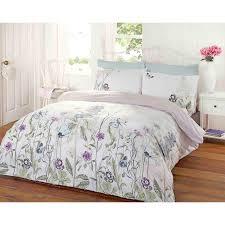 garden fl duvet cover reversible stripe bedding white duck egg blue bed set duck egg