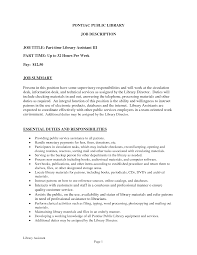 Librarian Job Description Resume Library Assistant Duties Camelotarticles 8