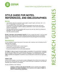 Style Guide For Notes References And Bibliographies Note