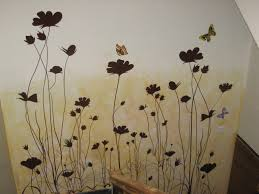 wall painting designsDesign Wall Painting Design Natural Wall Painting With Butterfly