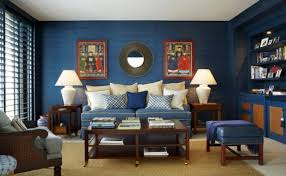 Brown Blue Living Room