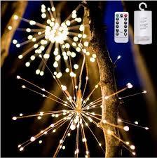 hanging starburst string light 200 leds diy firework copper fairy garland lights outdoor le lights lighting decor linear chandelier round