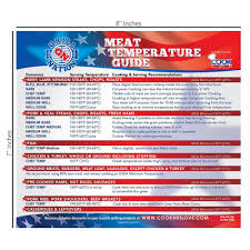Usda Food Temperature Cooking Chart Best Magnetic Meat Temperature Guide Chart For Outdoor And Indoor Use Includes All Meats For Kitchen Cooking Use Cookart Thermometer To Check