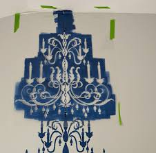 chandelier stencil how to 10 of 18