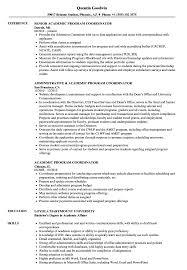 Academic Resume Samples Academic Program Coordinator Resume Samples Velvet Jobs