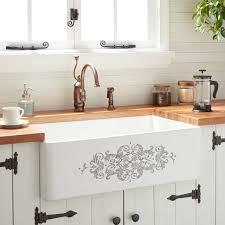 signature hardware 33 tasso fireclay farmhouse sink in white
