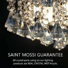 small crystal pendant lights unique saint mossi chandelier modern k9 crystal raindrop chandelier