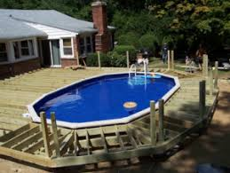 Above ground pool deck Cheap Builder Wikihow Above Ground Pool Deck Ideas Abovegroundpool