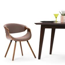 simpli home wayland mocha and natural woven fabric bentwood dining chair set of 1