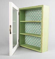 cream green wooden glass wall display