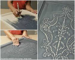 how to stencil tutorial create a carved wood effect with stencils and wood icing