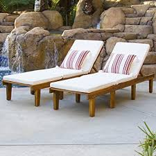 best choice s outdoor patio poolside furniture set of 2 acacia wood chaise lounge