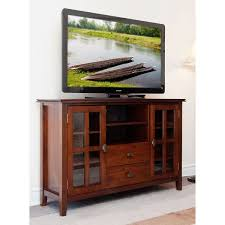 high tv stand for living room. stratford auburn brown tall tv stand - complete your living room with the simple elegance of high tv for m