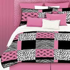 pink skulls 4 piece pink queen comforter set
