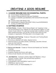 Resume Example Resume Good Job Resume Samples Job Resume Cover