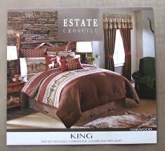cabin bedding set brand new king size comforter 4 piece set nature theme cabin bedding sets cabin bedding set