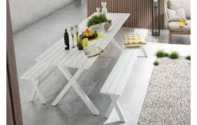 x aluminium dining set with bench seats