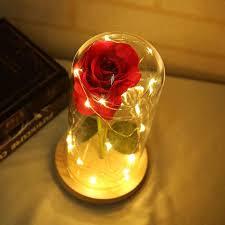 Enchanted Led Rose Light Enchanted Led Forever Rose