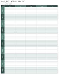Calendar Blocking Template 15 Free Weekly Calendar Templates Smartsheet