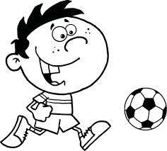 Disegno Di Ragazzino Che Gioca A Calcio Da Colorare Disegni Da