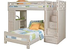 Creekside Stone Wash Twin Twin Step Bunk Bed with Desk - Bunk/Loft Beds