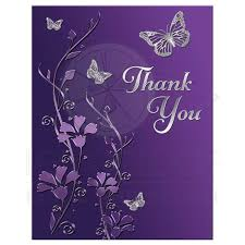 purple note cards bat mitzvah thank you note card flat purple silver flowers