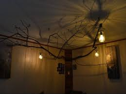 unique indoor lighting.  Indoor Custom Indoor Mason Jar Tree Branch Lighting And Unique