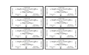 ticket sample template 22 free event ticket templates ms word template lab