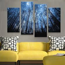 HD Print 40 Pieces One Set Wood Star Bedroom Painting Wall Art Home Cool Home Decoration Painting Collection