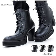 ankorock ancho rock heel boots men s heel boots women s lace up boots leather boots enamel