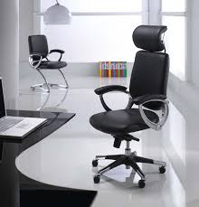 modern executive office chairs. Unique Executive Modern Black Executive Office Chair Mixed With Laptop On Dark Glass  Table Also  For Chairs