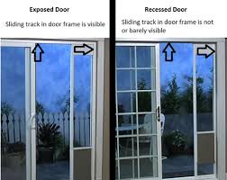 you can t see the track the door slides into if you have a recessed door you will need a patio panel kit not included to install your pet door