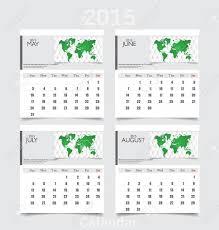 Calendar 2015 June July Simple 2015 Year Calendar May June July August Vector