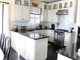 Kitchens With Black Appliances Off White Kitchen Cabinets Black Appliances Cliff Kitchen