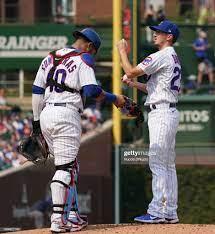 Willson Contreras and Zach Davies of ...