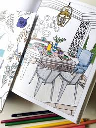 interior design coloring book the inspired room the inspired room